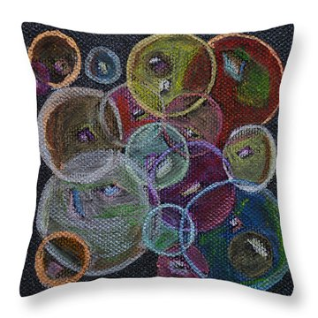 Everything That Goes Around Throw Pillow by Donna Blackhall