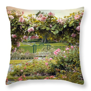 Everythings Coming Up Roses Throw Pillow