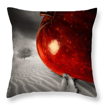 Eve's Burden Throw Pillow by Lourry Legarde