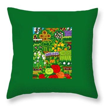 Eve's Garden Throw Pillow by Rojax Art
