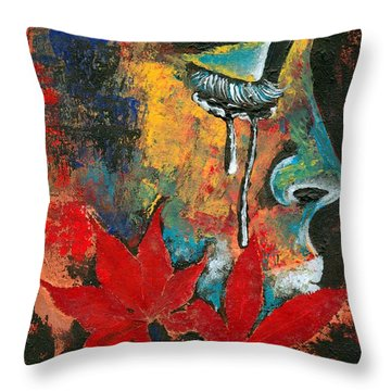 Eves Sin Throw Pillow by RiA RiA