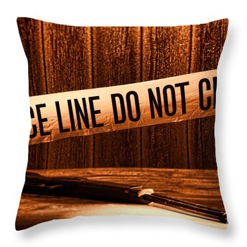 Evidence Throw Pillow by Olivier Le Queinec