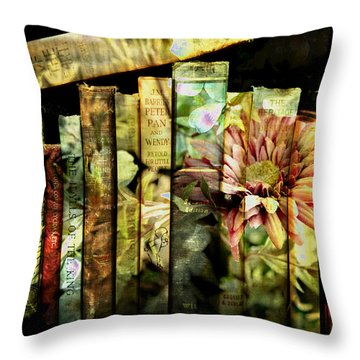 Evie's Book Garden Throw Pillow