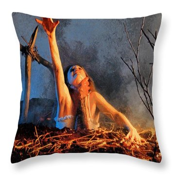 Evil Dead Throw Pillow by Joe Misrasi