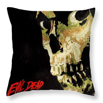 Evil Dead Skull Throw Pillow