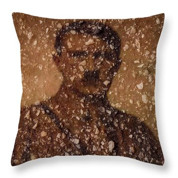 Evil In Asphalt Throw Pillow