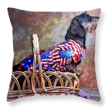 Throw Pillow featuring the photograph Evita by Jim Thompson