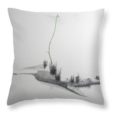 Throw Pillow featuring the painting Evocation by A  Robert Malcom