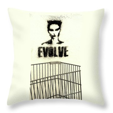Evolution Gone Wrong Throw Pillow