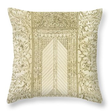 Example Of A Turkish Chimney Throw Pillow by Jean Francois Albanis de Beaumont