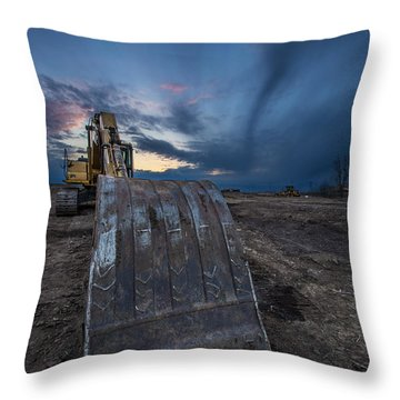 Excavator 2 Throw Pillow