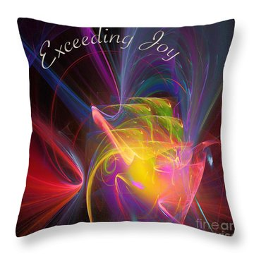 Throw Pillow featuring the digital art Exceeding Joy by Margie Chapman