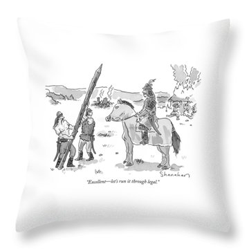 Horseback Throw Pillows