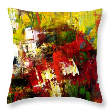 Throw Pillow featuring the painting Excited by Katie Black