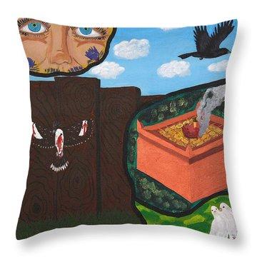 Excruciating Victory Throw Pillow by Vicki Maheu