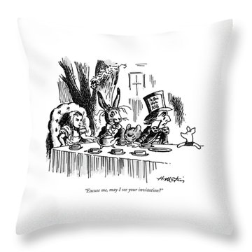 Excuse Me, May I See Your Invitation? Throw Pillow