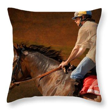 Exercising Morty Throw Pillow by Fran J Scott