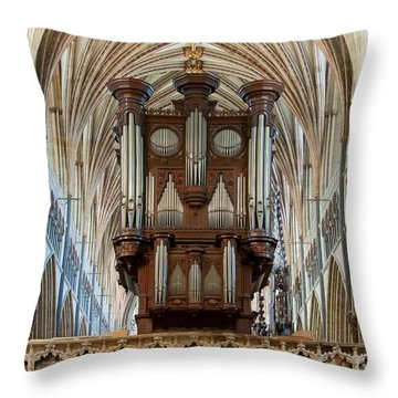 Exeter's King Of Instruments Throw Pillow