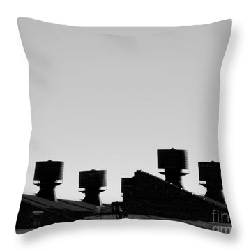 Exhausted Throw Pillow by James Aiken