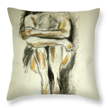 Exhaustion Throw Pillow by Jessica Sanders