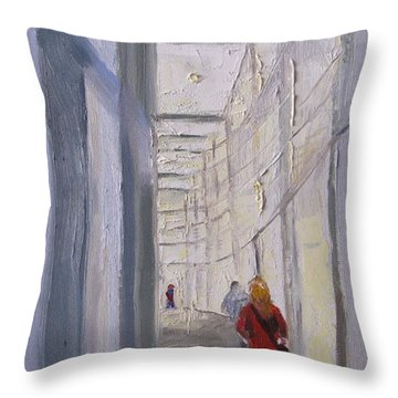 Exhibition Hallway Late Afternoon Throw Pillow