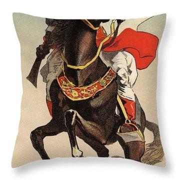 Exhibition Of Arabs Of The Sahara Desert Throw Pillow