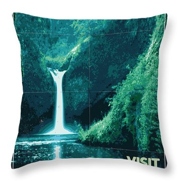 Exoplanet 04 Travel Poster Fomalhaut B Throw Pillow