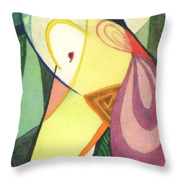 Exotic Dancer Throw Pillow