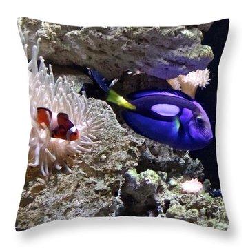 Exotic Fish 2 Throw Pillow