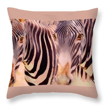 Exotic Friends Throw Pillow