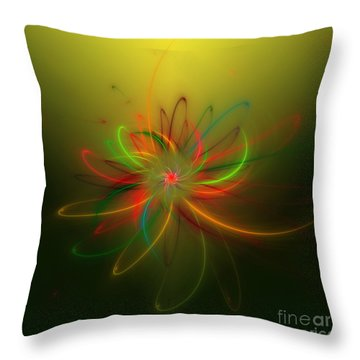 Exotic Lotus Throw Pillow by Hanza Turgul