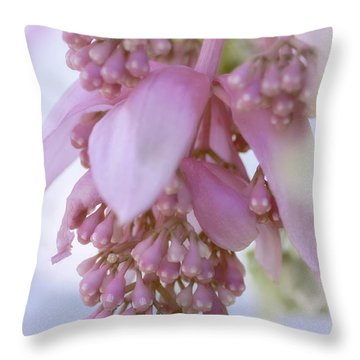 Exotic Malaysian Orchid Throw Pillow