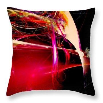 Exotic New Worlds Throw Pillow
