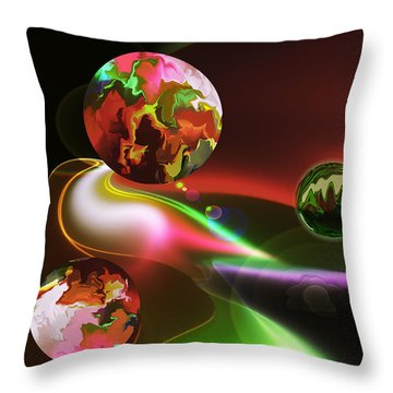 Exotic Worlds Throw Pillow
