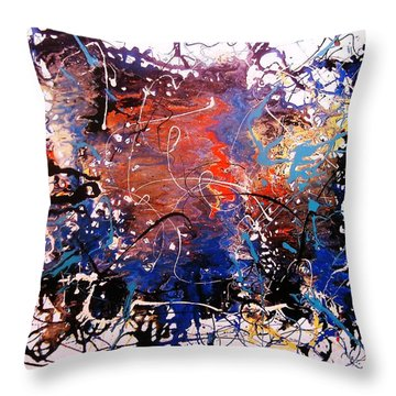 Throw Pillow featuring the painting Exotic Zone by Roberto Prusso