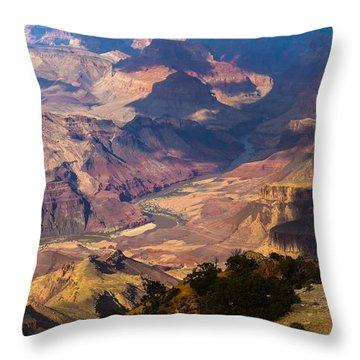Expanse At Desert View Throw Pillow