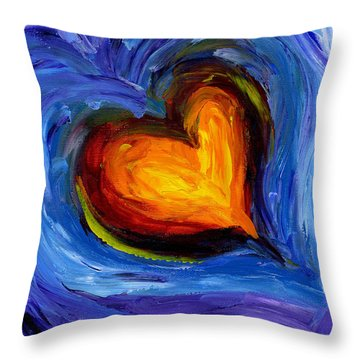 Expansion Of The Heart Throw Pillow