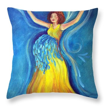 Expectancy Throw Pillow