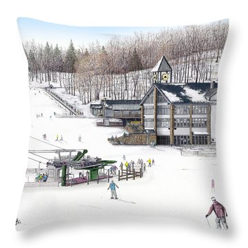 Throw Pillow featuring the painting Experience Hidden Valley by Albert Puskaric