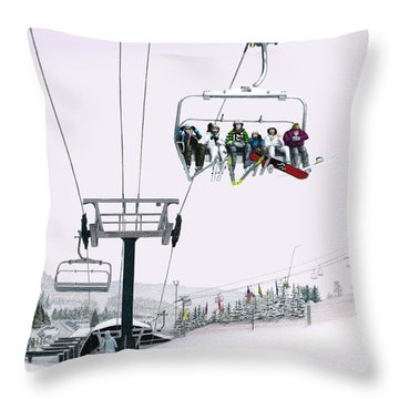 Experience Seven Springs Throw Pillow