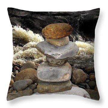 Experience Zen  Throw Pillow