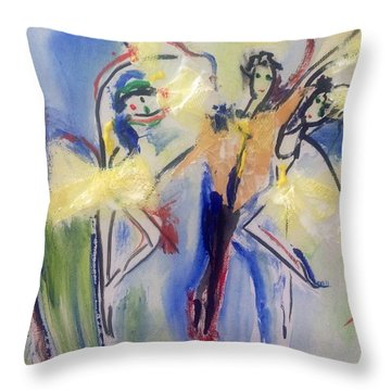 Experimental Ballet Throw Pillow by Judith Desrosiers