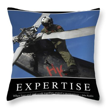 Expertise Inspirational Quote Throw Pillow by Stocktrek Images