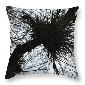 Exploding Branch Throw Pillow