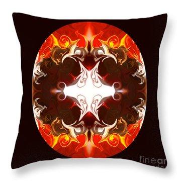 Exploding Consciousness Abstract Mandala Artwork By Omaste Witkowski Throw Pillow by Omaste Witkowski