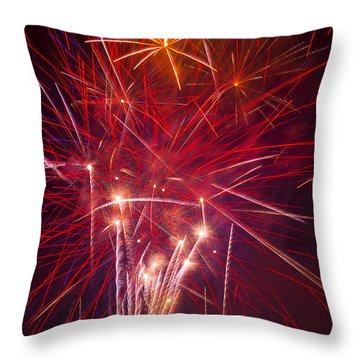 Exploding Fireworks Throw Pillow by Garry Gay