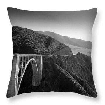 Coastal Highway Throw Pillows