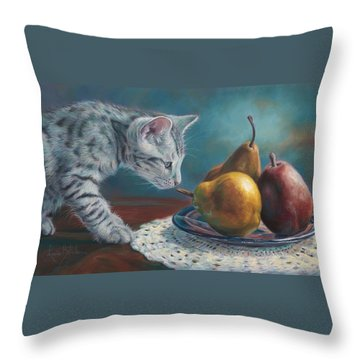 Exploring Throw Pillow by Lucie Bilodeau