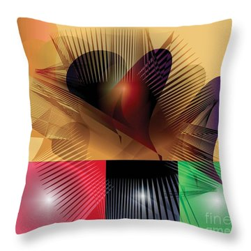 Explosion 2 Throw Pillow by Iris Gelbart