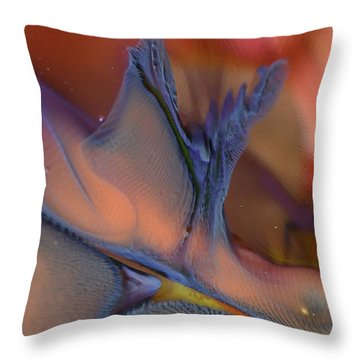 Explosion In Blue Throw Pillow
